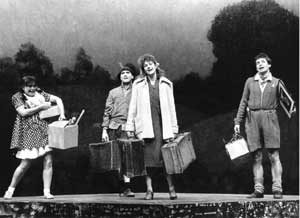 Barbara Dickson on stage with the original cast including George Costigan