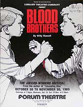Blood Brothers poster 1985