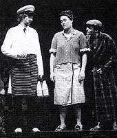 Willy Russell as the Narrator/Milkman in Blood Brothers in Liverpool