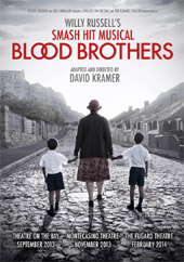 POster for BLOOD BROTHERS in South Africa
