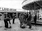 Filming at the fairground