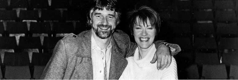 Blood Brothers:  Willy Russell with one of the many famous Mrs Johnstons, Kiki Dee