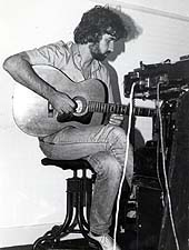 an early photo of Willy on guitar