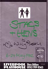 Programme cover from the Pip Broughton directed Stags and Hens at Liverpool Playhouse in 1982