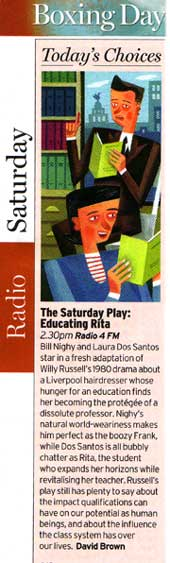 Educating Rita om BBC Radio4 Boxing Day